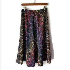 Catherine Malandrino Floral Holographic Maxi Skirt